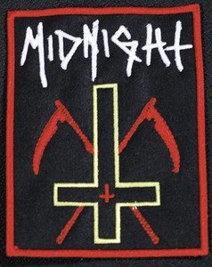 "Midnight Inverted Cross 4.5x3.5"" Embroidered Patch"