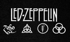 "Led Zeppelin Symbols 5x3"" Printed Patch"