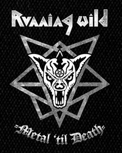 "Running Wild Metal 'Til Death 4x5"" Printed Patch"