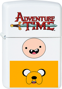 Adventure Time - Jake & Finn White Lighter