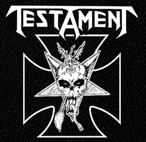 "Testament Skull 5x5"" Printed Patch"