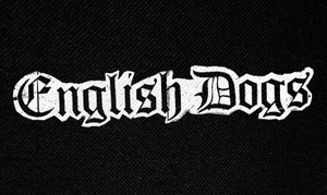"""English Dogs Logo 5x3"""" Printed Patch"""