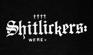 """Shitlickers Logo 5x3"""" Printed Patch"""
