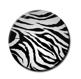 """Zebra Print 1"""" Pin"""
