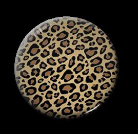 """Leopard Print 1"""" Pin"""