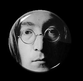 """John Lennon 1"""" Pin"""