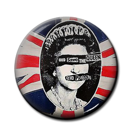 "Sex Pistols - God Save the Queen 1"" Pin"