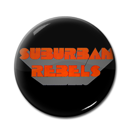 "Suburban Rebels - Logo 1"" Pin"