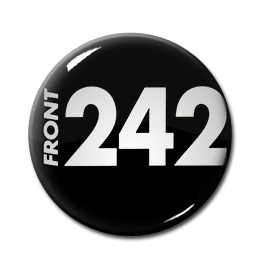 "Front 242 - Black Logo 1"" Pin"