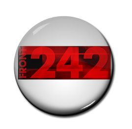 "Front 242 - White Logo 1"" Pin"