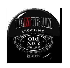 """Tamtrum - Jack Daniels Logo 1"""" Pin"""