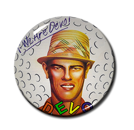 "Devo - Are We not Men? 1"" Pin"