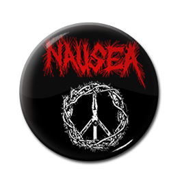 "Nausea - Crucified Jesus 1"" Pin"