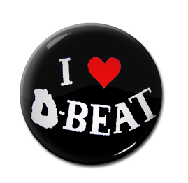 "I Love D-Beat 1"" Pin"