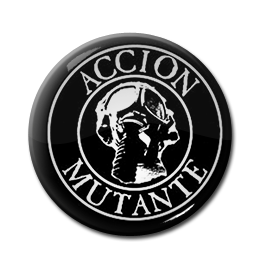 "Accion Mutante - Gas Mask 1"" Pin"