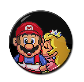 "Mario and Princess Peach 1.5"" Pin"