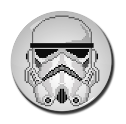 "8-Bit Storm Trooper 1.5"" Pin"