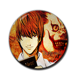 "Death Note - Lght & Ryuk 1.5"" Pin"