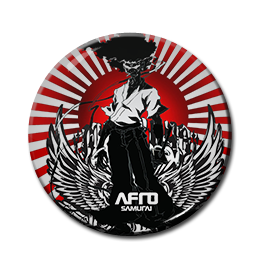"Afro Samurai 1.5"" Pin"