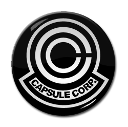 "Dragon Ball - Capsule Corporation Logo 1.5"" Pin"