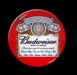 """Budweiser Beer - Logo 1.5"""" Pin"""