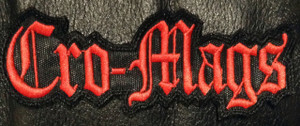 """Cro-Mags Logo 4.5x1.5"""" Embroidered Patch"""