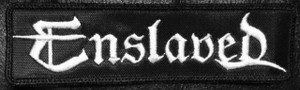 """Enslaved Logo 5x1.5"""" Embroidered Patch"""