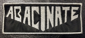 """Abacinate - Logo 4x2"""" Embroidered Patch"""