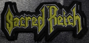 """Sacred Reich Logo 5x2.5"""" Embroidered Patch"""