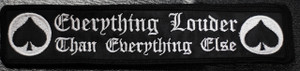 Everything Louder Than Everything Else 8x1 Embroidered Patch