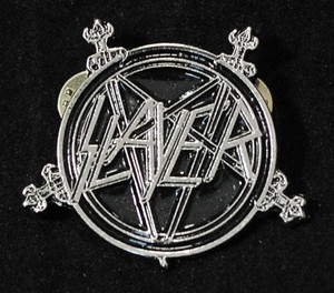 "Slayer - Pentagram 2"" Metal Badge Pin"