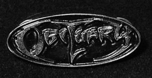 "Obituary - Logo 2"" Metal Badge Pin"