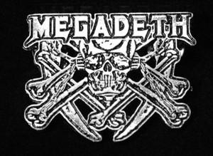 "Megadeth - Skull Logo 2"" Metal Badge Pin"