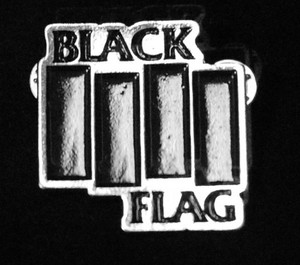 "Black Flag - Logo 2"" Metal Badge Pin"