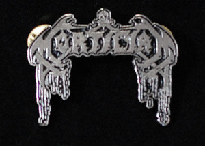 """Mortician - Logo 2"""" Metal Badge Pin"""