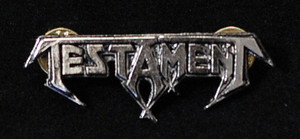"Testament - Logo 2"" Metal Badge Pin"