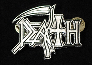 "Death - New Logo 2"" Metal Badge Pin"