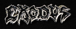"Exodus - Logo 2.5"" Metal Badge Pin"