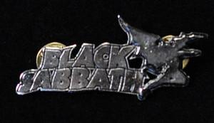 "Black Sabbath - Demon Logo 2"" Metal Badge Pin"