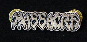 "Massacre - Logo 2"" Metal Badge Pin"