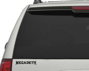"""Megadeth - Logo 7x2"""" Vinyl Cut Sticker"""