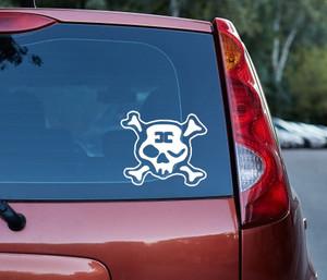 """Combichrist - Skull 6x5"""" Vinyl Cut Sticker"""