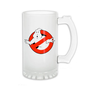 Ghostbusters Logo Frosted 16oz Beer Mug