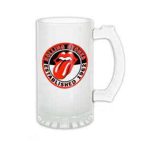 Rolling Stones Est. 1962 Frosted 16oz Beer Mug