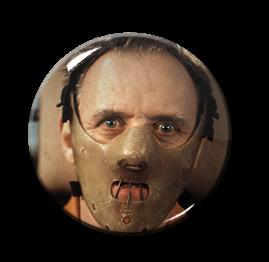 "Hannibal Lecter 1.5"" Pin"
