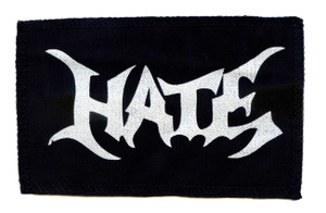 "Hate Logo 6X4"" Printed Patch"