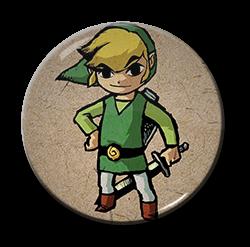 """Zelda - Link 1.5"""" Pin"""