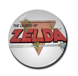 "Legend of Zelda Logo 1.5"" Pin"