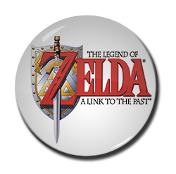 "Legend of Zelda - A Link to the Past 1.5"" Pin"