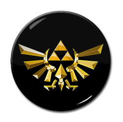 "Legend of Zelda Triforce 1.5"" Pin"